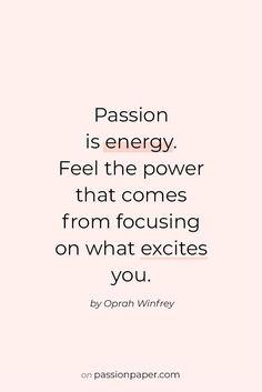Find Your Passion - Oprah Winfrey