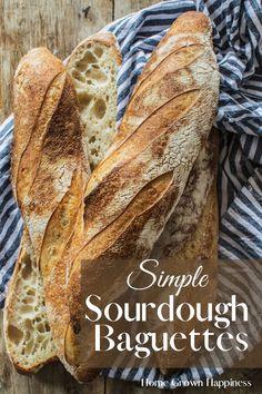 Sourdough Baguette Recipe, Sourdough Starter Discard Recipe, Brioche Recipe, Sourdough Recipes, Bread Recipes, Cooking Recipes, Bread Baking, Pain, Granola