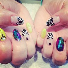 In salon gorgeous summer nails