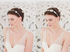 Pearl Flower Haeadpiece - Boho and Deco Inspired Accessories Collection 2015 from Britten Weddings | Styling & photography by http://goochandgawler.com/