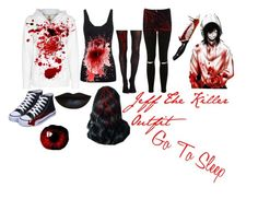 """Jeff the Killer Outfit"" by jamy-zacklene on Polyvore featuring Lucy, Juvia, Miss Selfridge, SPANX, Bettie Page and Anastasia Beverly Hills"