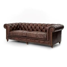 Tufted Couch, Chesterfield Couch, Tufted Leather Sofa, Sofa Upholstery, Sectional Sofa, Leather Chairs, Couches, Vintage Leather Sofa, Lounge Sofa