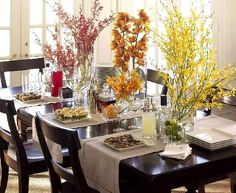 thanksgiving table decorations ideas | ... on a buffet table, not so much for the actual dining table though