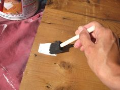 Great Tutorial on how to make a wooden sign. She even shows you what brand products she uses.