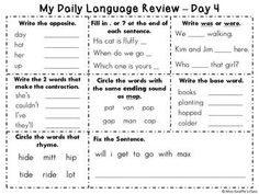 Printables Daily Oral Language 5th Grade Worksheets quizes language and quiz on pinterest my daily review book set 2