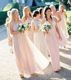 pink Grecian bridesmaid dresses