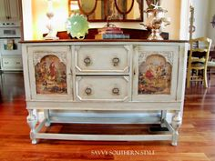 furniture makeover and mod podge. Love. @savvysouthernstyle