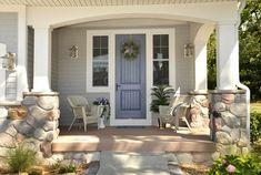 Exterior:Craftsman Front Door With Rattan Chairs Craftsman Front Door - The Harmoniousness of Art and Craft