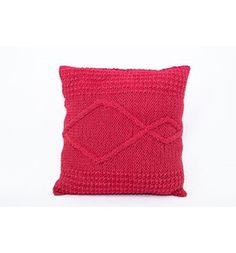Almofada de tricô quadrada