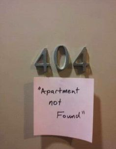 404 apartment not found