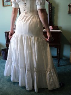 Traditional Petticoat with 3tiers Civil War by HeritageDressmakers