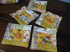She's Sew Smart: Quilted Coasters for Fall