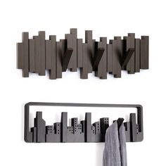 Sticks & Skyline Coat Hooks Pair: