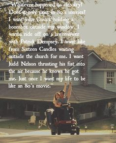 """movies were the best! LOVE this quote from """"Easy A"""" :) 80s Movie Quotes, 80s Movies, Great Movies, Movie Tv, Romantic Movie Quotes, Awesome Movies, Comedy Movies, Great Quotes, Me Quotes"""
