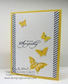 Pretty Sympathy Card from Kay Kalthoff with Stamping to Share using the Best of Greetings set from Stampin' Up.