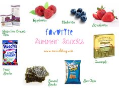 Great Summer Snacks  See more on www.serisblog.com