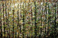 Fall Birch Tree Painting 2017