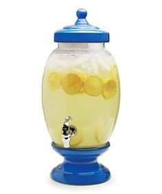 Serve your signature summer tea to guests with this glass beverage dispenser that will quickly become the center of your backyard party or picnic. Donald Duck Party, Glass Beverage Dispenser, Beverages, Gadgets, Invitations, Ceramics, Tea, Birthday, Goodies