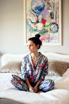 Beautiful Bottoms Carnival pyjamas on Amy Spencer // What a doll. Sleeping in these would be pretty luxurious we reckon