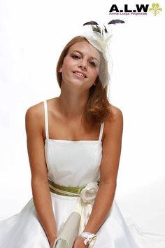 Fascinator in Creme  für die Braut von alw-design auf DaWanda.com