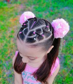 Toddler Braided Hairstyles, Cute Little Girl Hairstyles, Dance Hairstyles, Natural Hairstyles For Kids, Girl Hair Dos, Baby Girl Hair, Ponytail Braid Styles, Crochets Braids, Edges Hair