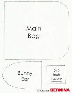 Drawstring Bunny Bag Tutorial ~ Free-Tutorial.net