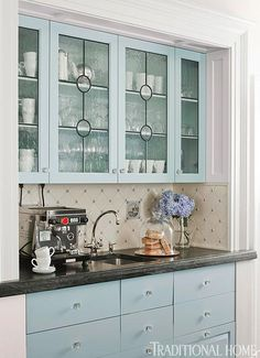 Distinctive Kitchen Cabinets With Glass Front Doors   Traditional Home®