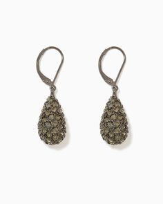 charming charlie | Pavé Teardrop Earrings | UPC: 400000051420 #charmingcharlie
