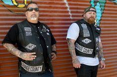 Harley Street Bob, Barber Straight Razor, Blood Brothers, Motorcycle Clubs, Good Buddy, Big Men, A Decade, Long Beach, Football Players