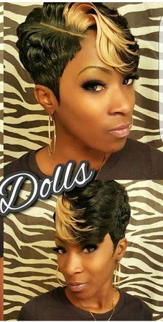 short hair                                                                                                                                                                                 More #Blackhairstyles Short Quick Weave Hairstyles, Cute Hairstyles For Short Hair, Girl Hairstyles, Curly Hair Styles, Natural Hair Styles, Simple Hairstyles, African Hairstyles, Short 27 Piece Hairstyles, Braided Hairstyles