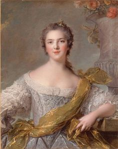"""Madame Victoire of France"" by Jean-Marc Nattier. Victoire was the daughter of Louis XV and Queen Marie of France. Madame Du Barry, Marie Antoinette, Jean Antoine Watteau, Roi Louis, Louis Xvi, French Royalty, Court Dresses, French History, European History"