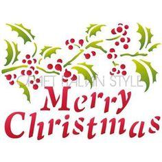 Stencil D 20x15 cm Merry Christmas