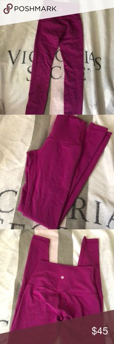 Lululemon size 4 Wunder Under Magenta Purple color! Great Condition No noticeable flaws that I can pick up Size 4 Full Length... only worn a few times lululemon athletica Other