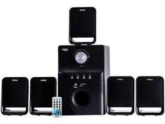 Home Theater TRC Speaker System 40W RMS - 5.1 Canais Conexão USB. Você encontra pelo melhor preço aqui no Magazine Allameda. Venha conferir!