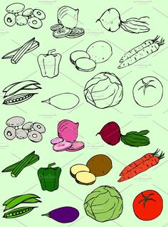 Vegetables Vector Clip Art / Icons