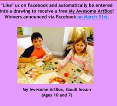 Don't forget about our contest. LIKE our Facebook Page and you could win a My Awesome ArtBox for your budding artist!
