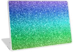 'Violet Purple Aqua Blue Seafoam Green Magic Rainbow Sparkly Glitter' Laptop Skin by podartist Aqua Blue, Purple, Green Magic, Canvas Prints, Art Prints, Sea Foam, Laptop Skin, Etsy Handmade, Customized Gifts