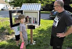 The Bookwalter familys Little Free Library in Georgetown is named for their beloved dog, Doug, that died recently. Andy Bookwalter watches as sons Jake, and Emmett, arrange the books. The book-sharing movement began about a year ago in Wisconsin. Future Library, Library Room, Free Library, Library Ideas, Seattle News, Seattle Times, Little Free Libraries, Little Library, Library Science