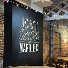Three fonts. One piece. Enjoyed creating something special for Christy & Stephen's lovely wedding at The Stockroom! #chalkart #raleighweddings #weddingart #raleigh #chalkboardart #chalkboardart #chalkart #chalk #typography