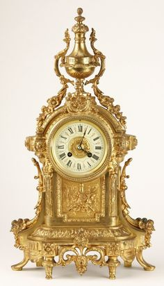 19th c. French dore' bronze clockMore Pins Like This At FOSTERGINGER @ Pinterest