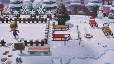 Winter Christmas, Christmas Themes, Animal Crossing Guide, Motifs Animal, Spooky Scary, Animal Games, Beautiful Islands, Design, Inspiration