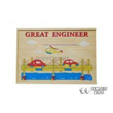 Set constructii lemn - Marele inginer