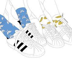 adidas, outline, and banana image
