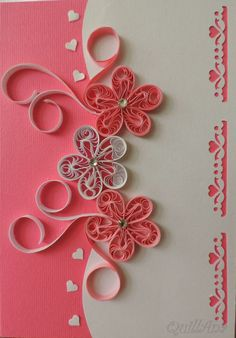 quilled flowers - Google Search