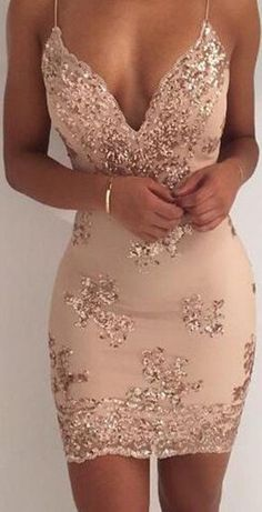Sexy Cockrail Dresses,Backless Homecoming Dresses,V Neck Homecoming Dress,Tight Cocktail Dresses,Appliques Prom Dresse