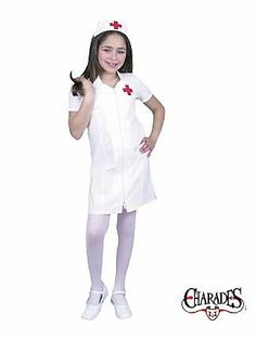 Registered Nurse Child Costume from the Catch My Party Store! #costume #nurse perfect for a silent hill costume for my daughter! Pyramid head for my son! Yessss!
