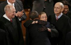 President Barack Obama With Supreme Court Justices.... SOTU... 2013