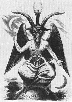 Evil Skull Tattoo, Goth Tattoo, Tattoos, Baphomet, Dark Fantasy Art, Capricorn Art, Satanic Art, Demon Art, Psy Art