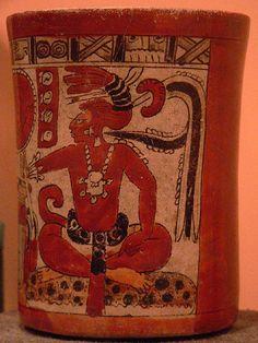 Polychrome Vase Maya 600 to 1200 CE Mayan Glyphs, Mayan History, Maya Civilization, Aztec Culture, Vases, Mesoamerican, Native American Art, American Indians, Inca