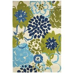 Catalina Cove Flower Rug  sooo pretty I think i want to do my future living room in these colors
